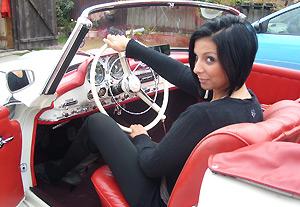 Model  schöne Autos , Modellfotografie, Oldtimer, Klassik Car